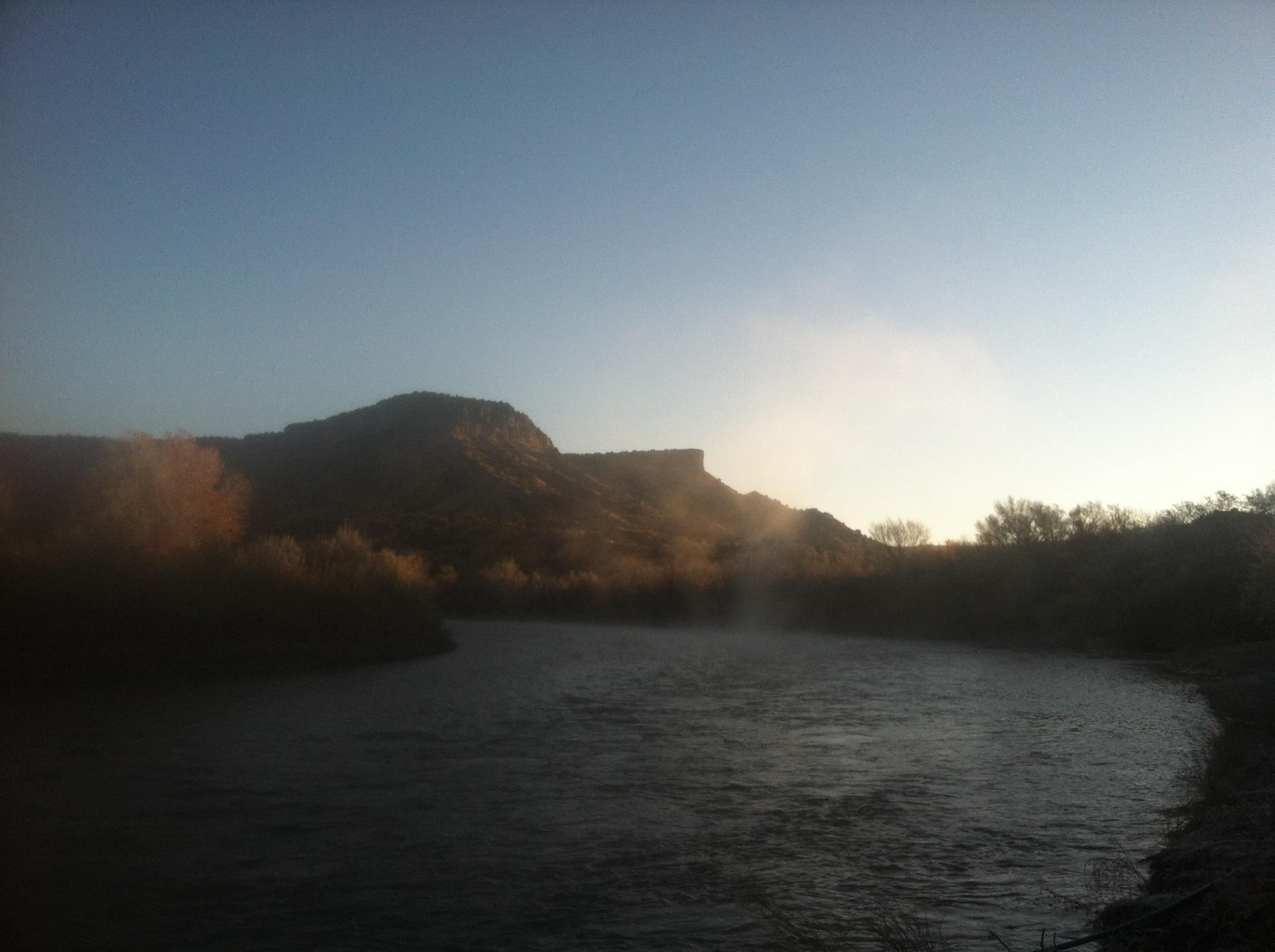 Rio Diversion morning fog mist